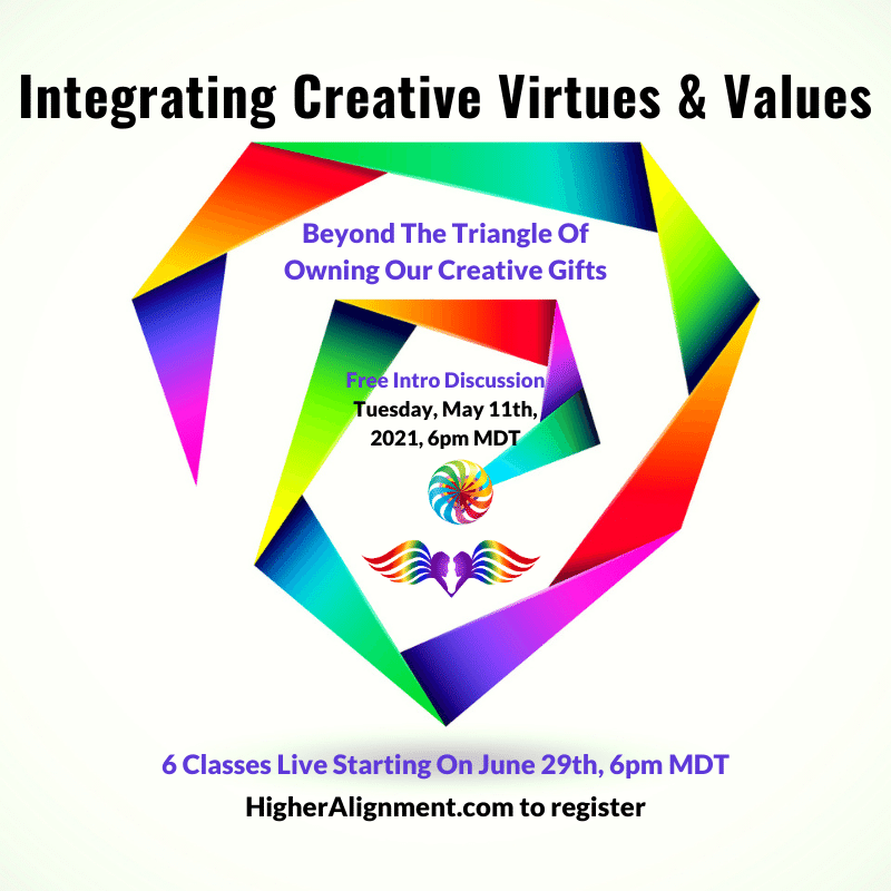 Picture of *Integrating Creative Virtues & Values*   6 Tuesdays 6/29-8/3 @ 6 pm ICVV